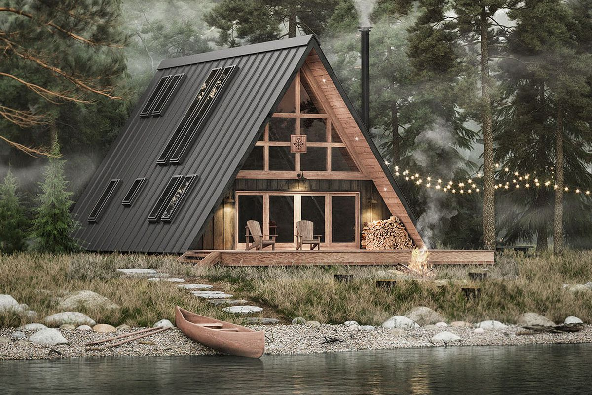 An Amazing DIY Cabin That Can Easily Be Put Together in Weeks