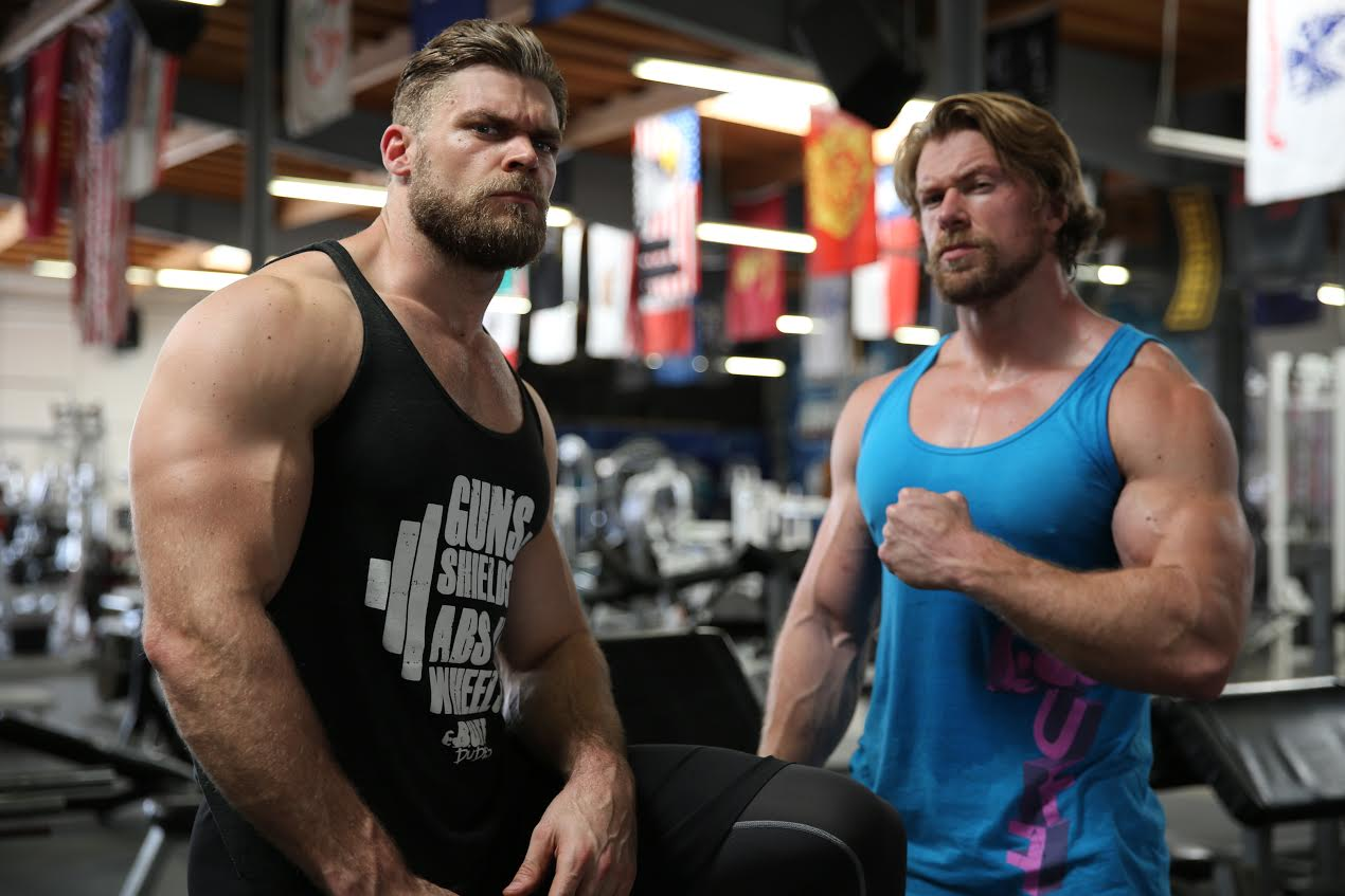 Bodybuilder Brothers Made Their 65-Pound Concrete Dumbbells
