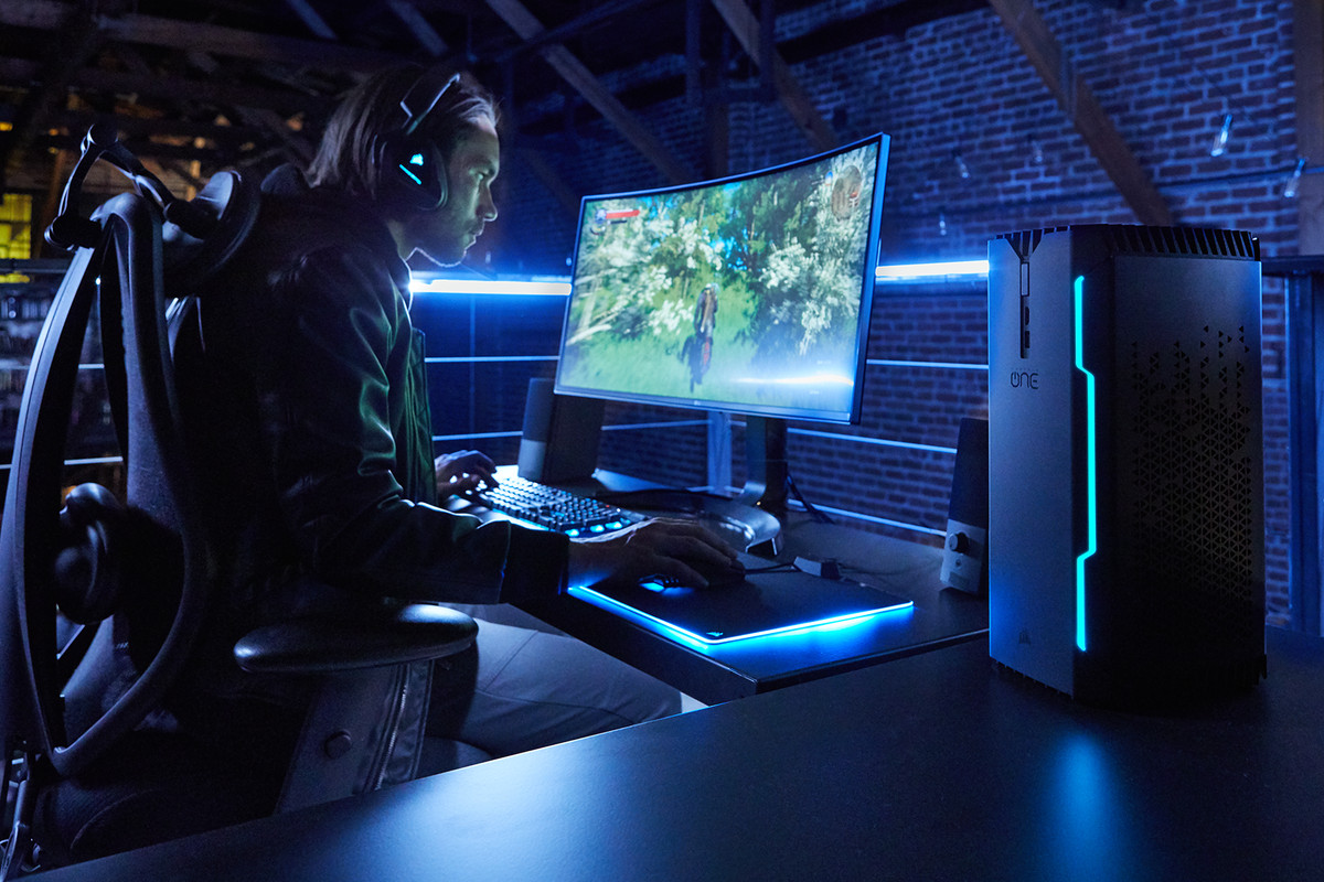 gamer playing a PC game